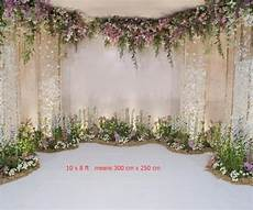 7x5ft Wedding Flowers Wall Backdrop by 7x5ft White Floral Wall Wedding Photography Backdrop