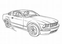 Mustang Coloring Page  GetColoringPagescom