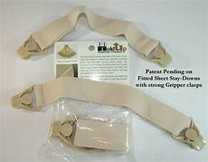 sheet straps made by holdup suspender with patented gripper clasps in 2 style kitss