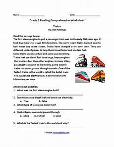 comprehension worksheets for 3rd grade 15636 trains third grade reading worksheets reading worksheets third grade reading worksheets