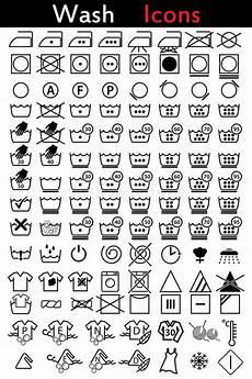 wäsche waschen symbole washing icons stock vector illustration of