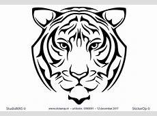Muurstickers wilde dieren   Portret tijger