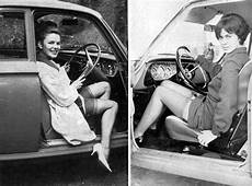 Vintage Photos Of Ladies Stepping Out From The Driver's Seat