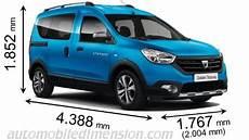 dimension dacia lodgy dimensions des voitures dacia avec longueur largeur et hauteur
