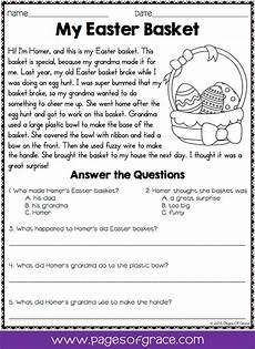 reading comprehension passages and questions for april k 2nd grade language arts reading