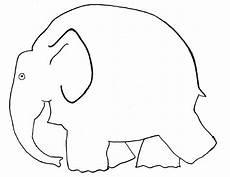 klassenkunst vorlage elefant