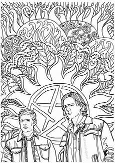 supernatural coloring book color your own castiel