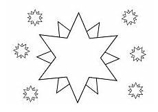 Malvorlage Sterne Klein Ausmalbilder Himmel Weltraum Raumfahrt Sonne Mond Sterne