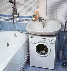 Installation Of The Washing Machine A Sink Of