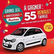 jeux concours voiture jeu 55 ans auchan 55 voitures renault twingo 224 gagner