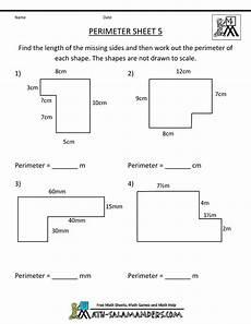 perimeter worksheet not all measurements given higher