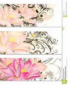 fiori di loto e farfalle insieme di biglietti da visita con i fiori di loto e l
