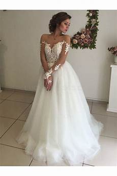 Lace Sleeves Wedding Gown