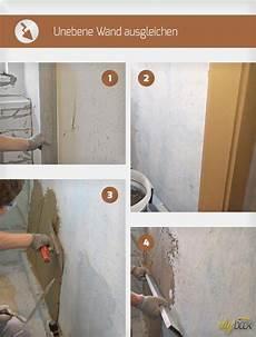 Unebene Wand Ausgleichen Renovierung Haus Sanieren