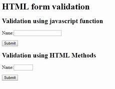 html form elements validation using javascript and dom method free source code tutorials