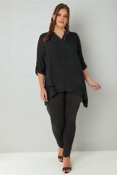layering blouse black layered blouse with notch neck plus size 16 to 36