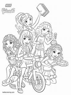 characters from lego friends coloring pages free