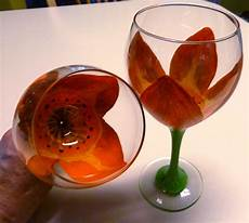 Make It Easy Crafts Floral Painted Wine Glass Tutorial