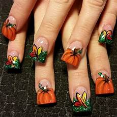 pumpkins nail art gallery not the wide tips but i