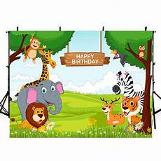 Animal Happy Birthday Photography Background Cloth by 8ft One Photo Backdrop Animals Zoo Photo Booth