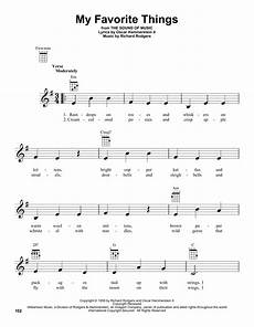 my favorite things sheet music by rodgers hammerstein