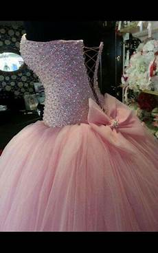 beautiful pink poofy sparkly wedding dress their big day