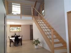 prix d escalier en bois le gc68 un escalier bois et inox moderne et pas cher