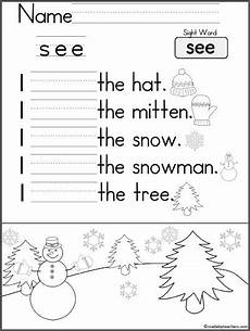free printable writing sentences worksheets for kindergarten 22201 17 best images about sight words on kindergarten writing parking lot and the dice