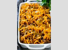 Beef Noodle Casserole   Dinner at the Zoo