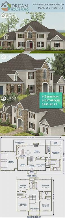 5 bedroom house plans with wrap around porch dream house plans best traditional 5 bedroom 2955 sq ft