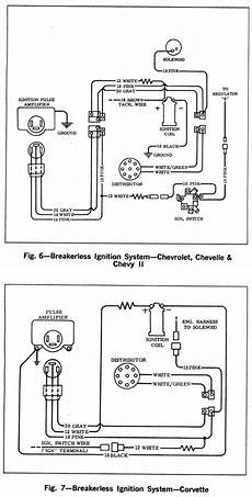 1969 corvette ignition wiring diagram 1966 corvette service news wiring diagrams for breakerless ignition systems