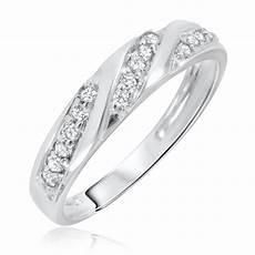 1 4 carat t w diamond s wedding ring 14k white gold