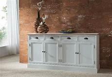 Sideboard Weiß Holz - sideboard 2 kommode in paulownia holz weiss vintage