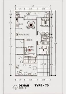 Denah Rumah Minimalis Type 70 1 Lantai Terbaru 2015