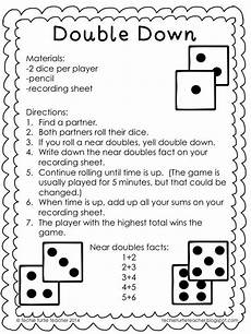 freebie double down game to practice adding near doubles
