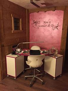 rustic home nail salon decor ideas nail technician room