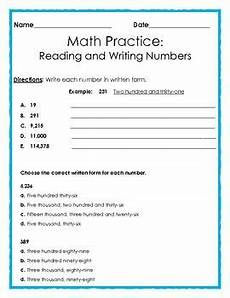 reading and writing numbers in expanded form standard form and written form writing numbers