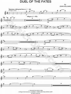 quot duel of the fates flute quot from star wars episode i the phantom menace sheet music flute
