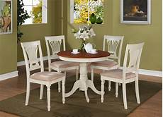 5pc antique round dinette kitchen table dining set with 4
