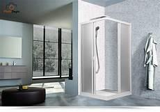 doccia 80x80 box doccia ad angolo 80x80 cm in pvccon ante scorrevoli e