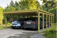 Holz Carport Kaufen - holz carport skanholz 171 holstein 187 flachdach doppelcarport