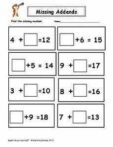 addition worksheets with missing addends 9643 missing addends addition worksheets 1st 2nd grade math tpt