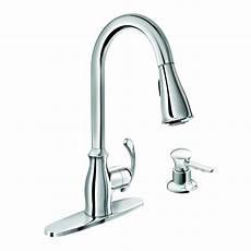 Moen Kitchen Faucets Lowes Shop Moen Kipton Chrome 1 Handle Pull Kitchen Faucet