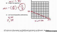 standard form linear equation word problems youtube