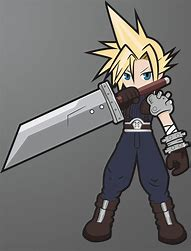 Image result for Chibi Cloud FF7