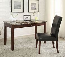 home office furniture sydney sydney writing desk w chair brown faux marble acme