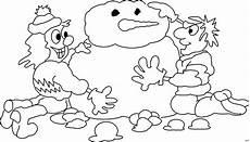 Ausmalbild Schneemann Bauen Kinder Bauen Schneemann Ausmalbild Malvorlage Comics