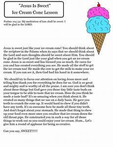ice cone sunday school lesson