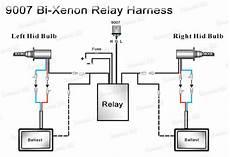relay wiring harness for bi xenon hid xenon kit 9004 9007 h4 h13 warranty ebay