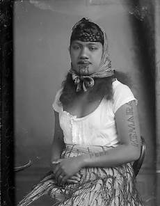 Portraits Of Maori With Their Tradition